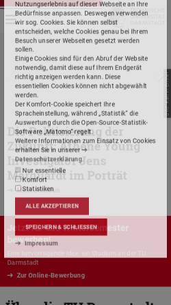 Vorschau der mobilen Webseite www.iag.tu-darmstadt.de, Institut für Angewandte Geowissenschaften der Technischen Universität Darmstadt