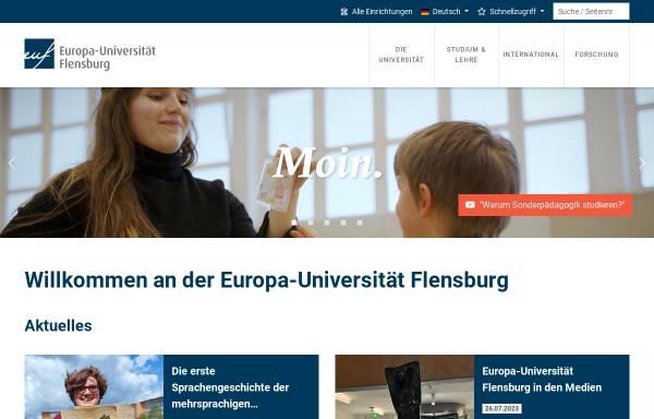 Vorschau von www.uni-flensburg.de, Institut für Geographie der Universität Flensburg
