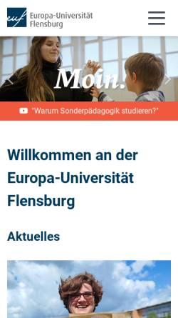 Vorschau der mobilen Webseite www.uni-flensburg.de, Institut für Geographie der Universität Flensburg