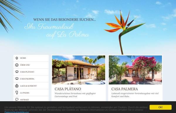 Vorschau von la-palma-traumurlaub.com, Casa Plátano und Casa Palmera