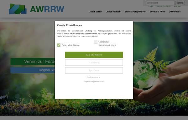 Vorschau von www.awrw.de, Verein zur Förderung der Abfallwirtschaft Region Rhein-Wupper e.V.