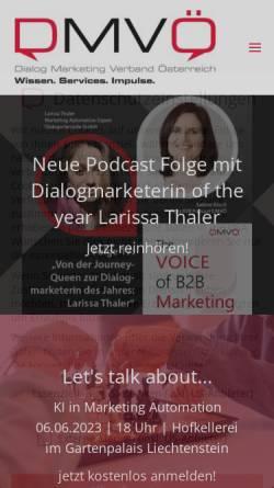 Vorschau der mobilen Webseite www.dmvoe.at, Direct Marketing Verband Österreich (DMVÖ)