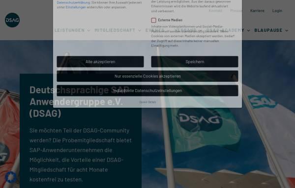 Vorschau von www.dsag.de, Deutsche SAP Anwender Gruppe