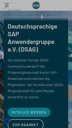 Vorschau der mobilen Webseite www.dsag.de, Deutsche SAP Anwender Gruppe