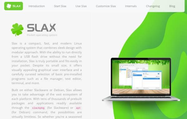 Vorschau von www.slax.org, Slax