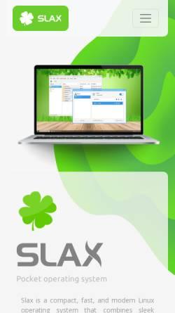 Vorschau der mobilen Webseite www.slax.org, Slax