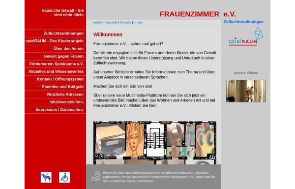 Vorschau von www.frauenzimmer-ev.de, FrauenZimmer e.V.