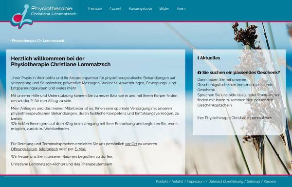 Vorschau von www.deine-physio.de, Physiotherapie Christiane Lommatzsch