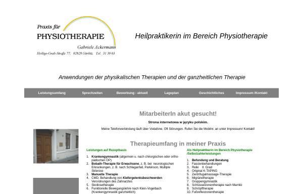 Vorschau von arcun1.hypermart.net, Physiotherapie Gabriele Ackermann