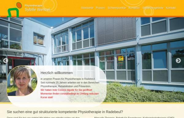 Vorschau von www.pt-wenzel.de, Physiotherapie Sybille Wenzel