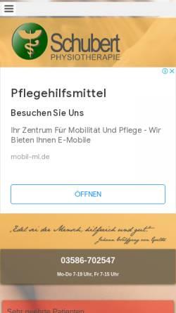 Vorschau der mobilen Webseite www.physiotherapie-neugersdorf.de, Rita Schubert