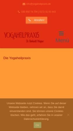 Vorschau der mobilen Webseite www.iyp-berlin.de, Institut für Yoga und Pilates in Berlin-Mitte