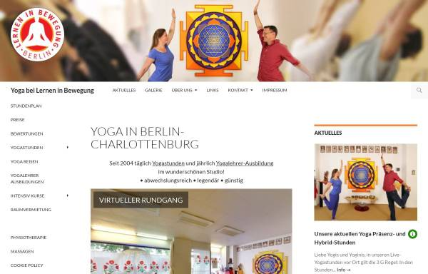 Vorschau von www.yoga-berlin.de, Lernen in Bewegung e.V. - Yoga in Charlottenburg