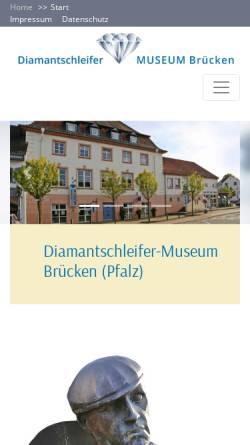 Vorschau der mobilen Webseite www.diamantschleifermuseum.de, Diamantschleifermuseum