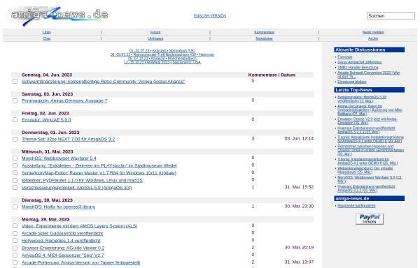 Vorschau von www.amiga-news.de, Amiga News