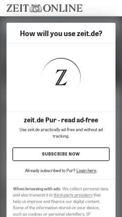 Vorschau der mobilen Webseite www.zeit.de, Die Zeit: Mein Jahrhundertbuch