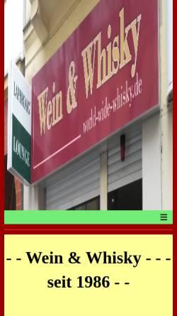 Vorschau der mobilen Webseite www.world-wide-whisky.de, Werner Hertwig's Wein und Whisky-Shop