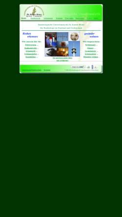Vorschau der mobilen Webseite www.baubiologie-bruns.de, Baubiologische Umweltanalytik Dr. rer. nat. Rainer Bruns Diplom Biologe, Baubiologe IBN