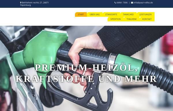 Vorschau von www.paul-rolfes.de, Rolfes Mineralöle und Texaco-Kraftstoffe