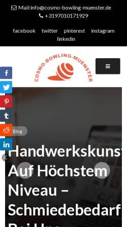 Vorschau der mobilen Webseite www.bowling-muenster.de, Bowling Münster