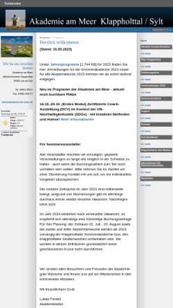 Vorschau der mobilen Webseite www.akademie-am-meer.de, Volkshochschule Klappholttal
