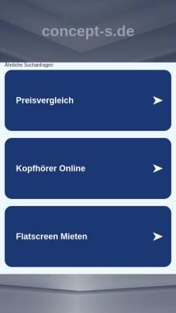 Vorschau der mobilen Webseite www.concept-s.de, Concept S media