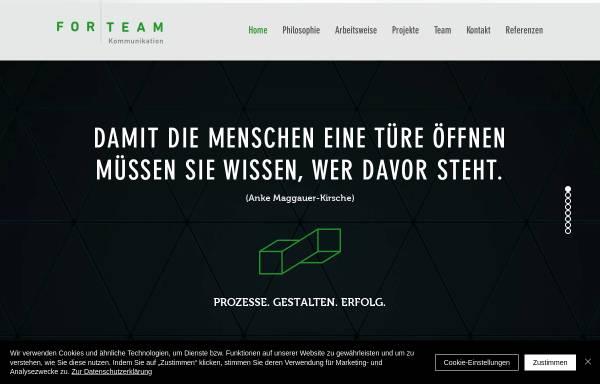 Vorschau von www.forteam.de, ForTeam Kommunikation GmbH