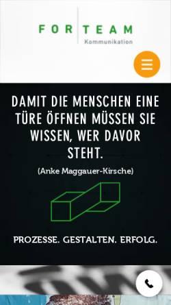 Vorschau der mobilen Webseite www.forteam.de, ForTeam Kommunikation GmbH
