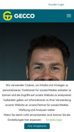 Vorschau der mobilen Webseite www.geccomedia.de, Gecco Media GmbH