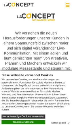 Vorschau der mobilen Webseite www.la-concept.de, La Concept GmbH