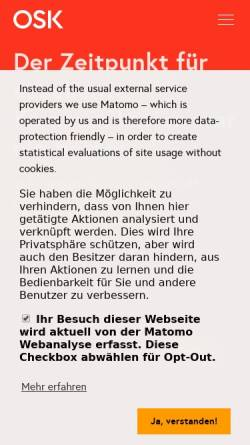 Vorschau der mobilen Webseite www.osk.de, Oliver Schrott Kommunikation GmbH