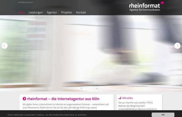Vorschau von www.rheinformat.com, rheinformat - Agentur für Kommunikation Nicol & Weckerlin GbR