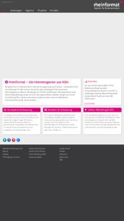 Vorschau der mobilen Webseite www.rheinformat.com, rheinformat - Agentur für Kommunikation Nicol & Weckerlin GbR