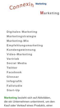 Vorschau der mobilen Webseite wemarcon.de, WMC Wendeler Marketing Consulting