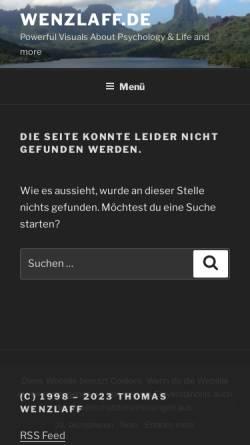 Vorschau der mobilen Webseite www.wenzlaff.de, Java Weltzeit Applet Freeware
