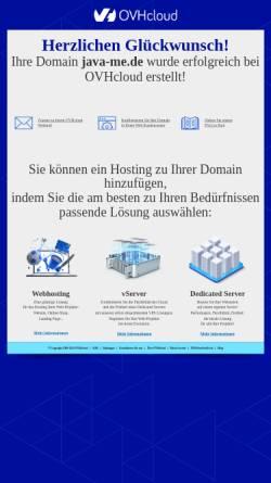 Vorschau der mobilen Webseite www.java-me.de, Java ME - Anwendungsentwicklung für Handys, PDA und Co.