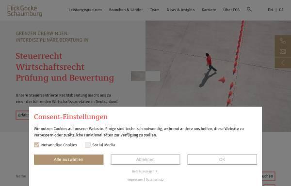 Vorschau von www.fgs.de, FGS Partnerschaft