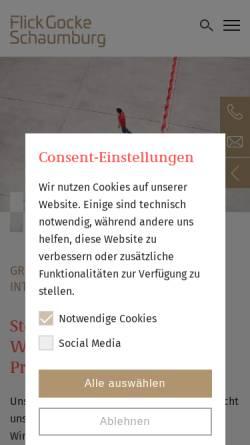 Vorschau der mobilen Webseite www.fgs.de, FGS Partnerschaft