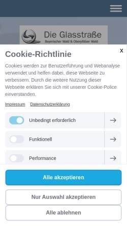 Vorschau der mobilen Webseite www.die-glasstrasse.de, Glasstrasse