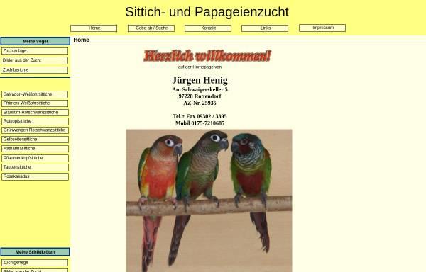 Vorschau von www.sittich-papageienzucht.de, Sittich- und Papageienzucht