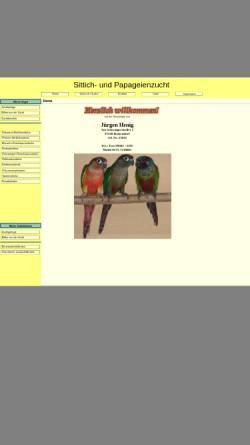 Vorschau der mobilen Webseite www.sittich-papageienzucht.de, Sittich- und Papageienzucht