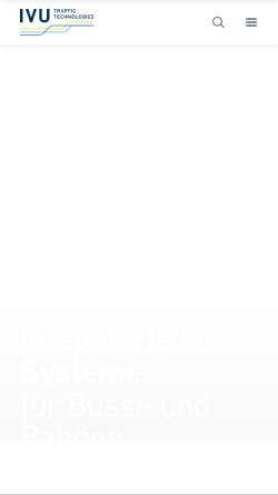 Vorschau der mobilen Webseite www.ivu.de, IVU Traffic Technologies AG