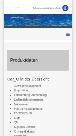 Vorschau der mobilen Webseite www.uks-software.de, Unternehmensberatung Konrad Schneider GmbH