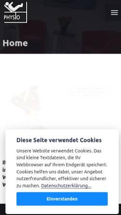 Vorschau der mobilen Webseite www.krankengym-zentrum.de, Physiotherapie und Krankengymnastik in Berlin Spandau