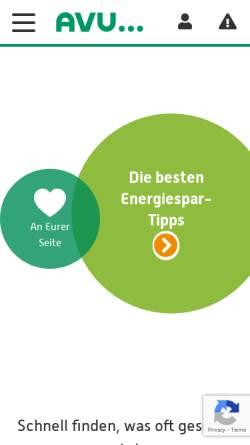 Vorschau der mobilen Webseite www.avu.de, AVU Aktiengesellschaft für Versorgungs-Unternehmen