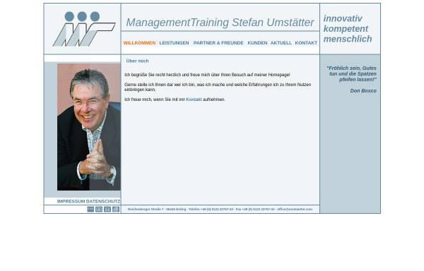 Vorschau von www.umstaetter.com, Management Training Stefan Umstätter