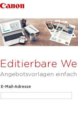 Vorschau der mobilen Webseite www.canon.de, Canon Deutschland GmbH