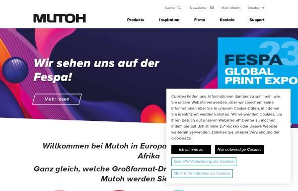Vorschau von www.mutoh.de, MUTOH Deutschland GmbH