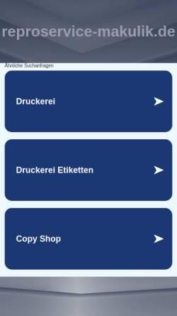 Vorschau der mobilen Webseite www.reproservice-makulik.de, Reproservice Makulik