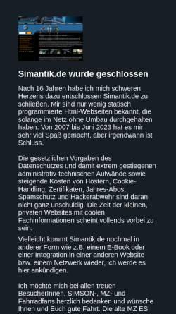 Vorschau der mobilen Webseite www.simantik.de, Simson SR 50